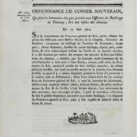 Ordonnance du conseil souverain, qui fixe les honoraires dûs par journée aux officiers du bailliage de Tournay, lors des visites des chemins